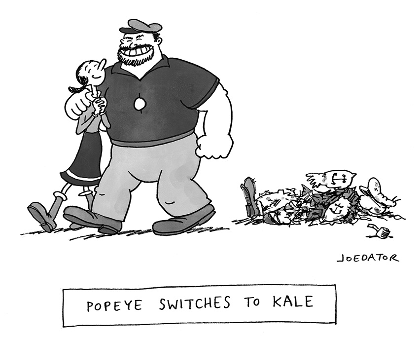 Popeye switches to kale by Joe Dator: Popeye switches to kale