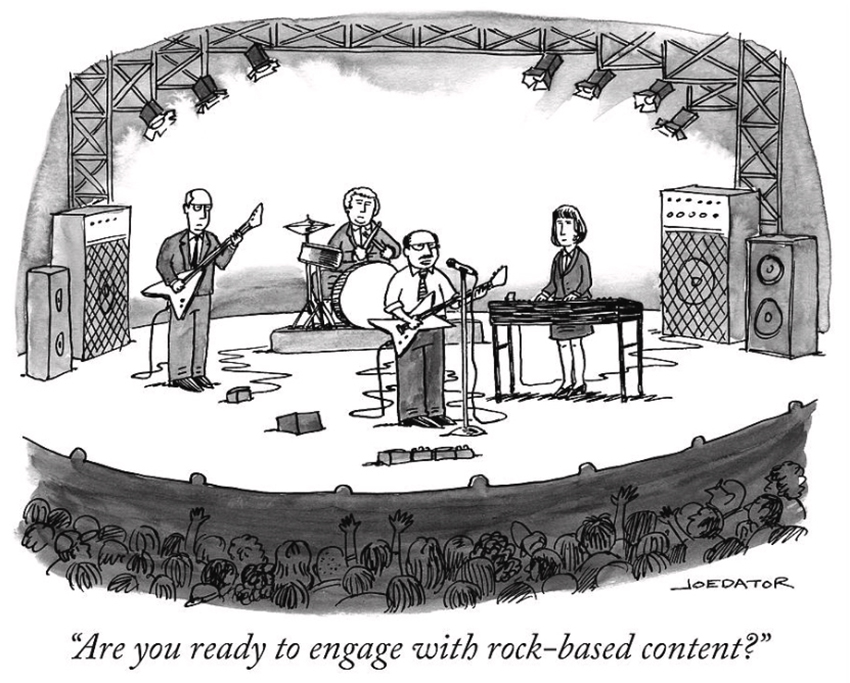 by Joe Dator: Are you ready to engage with rock-based content?