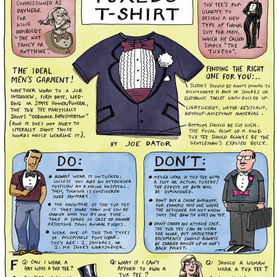 Cartoons by Joe Dator: A Man's Guide to the Tuxedo T-Shirt