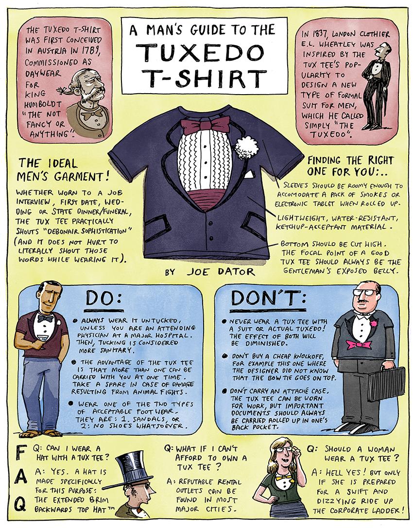 by Joe Dator: A Man's Guide to the Tuxedo T-Shirt